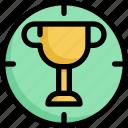 achievement, award, business, goal, startup, target, trophy