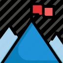 business, flag, management, mountain, startup, success