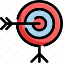 achievement, award, business, goal, startup, success, target icon