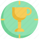 achievement, award, business, startup, target, trophy, winner icon