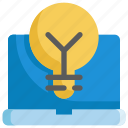 business, creative, creativity, idea, laptop, lightbulb, startup