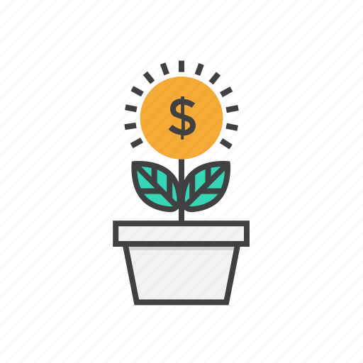 coin, currency, dollar, finance, growth, money icon