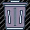 rubble, residue, trash, rubbish, waste, debris, litter icon