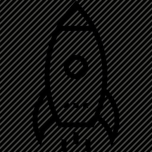 missile, rocket, rocket launch, spacecraft, startup icon