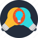 bulb, idea, ideas, imagination, innovation, progress, research icon