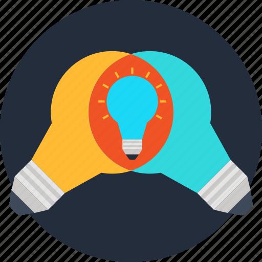bulb, idea, ideas, imagination, innovation, progress, research icon