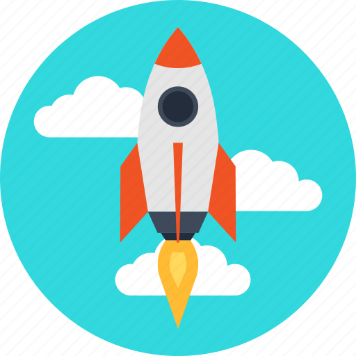 beginning, business, launch, project, rocket, start up, startup icon