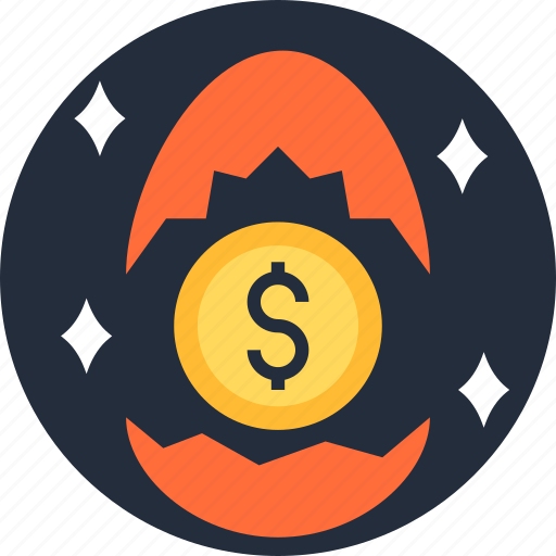 business, cash, coin, egg, income, money, small icon