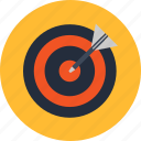 aim, center, goal, market, target, trend icon