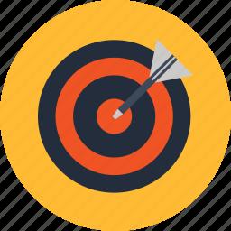 aim, center, goal, market, target, trend icon
