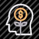 growth, increase, mind, money, profit