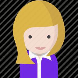 avatar, blonde, office, officeavatarblondehair, startup, woman icon