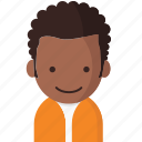 avatar, office, officeavatarcurlyhairman, startup icon