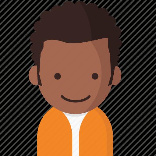 avatar, office, officeavatarcurlyhairman, startup icon