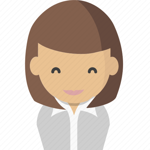 avatar, office, officeavatarwomanbrownhair, startup icon