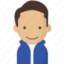 avatar, hoodie, office, officeavataryoungmanbrownhair, startup icon