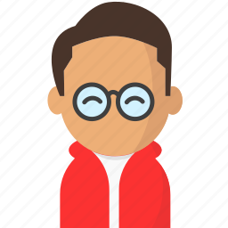 avatar, glasses, office, officeavataryoungmanbrownhairglasses, startup icon