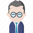 avatar, glasses, legal avatar, office, officeavatarglasses, startup, tie icon
