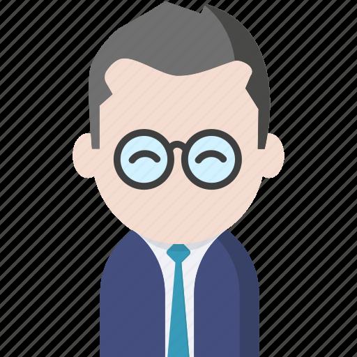 avatar, glasses, legal avatar, office, officeavatarglasses, startup, tie icon