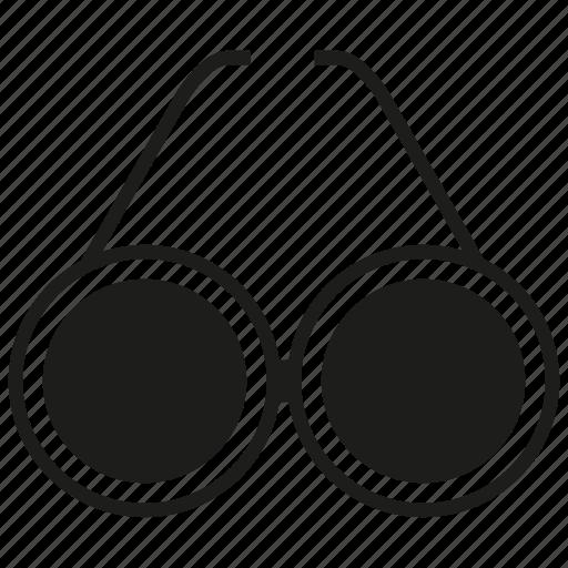 eyeglass, vision icon