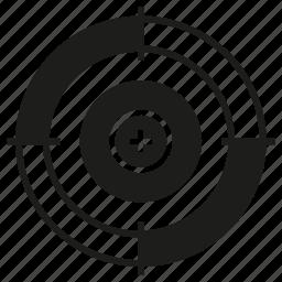 focus, goal, target icon