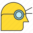 head, man, view, vision icon