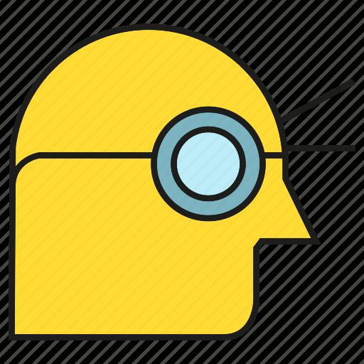 head, man, view, vision icon