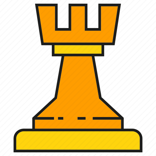 castle, chess, game, strategy icon