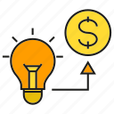 creative, finance, fund, idea, invest, money icon