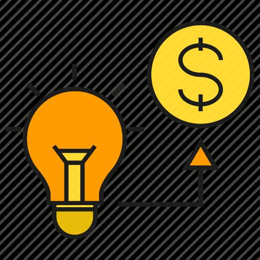 creative, finance, fund, idea, invest, money icon