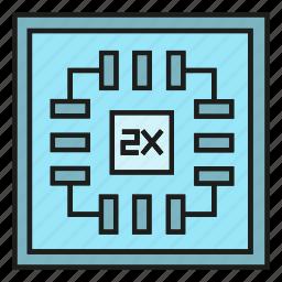 chip, electronic, microchip, processor, tech icon