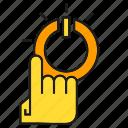 click, finger, hand, power, start icon