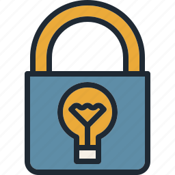 idea, license, patent, protection, security icon
