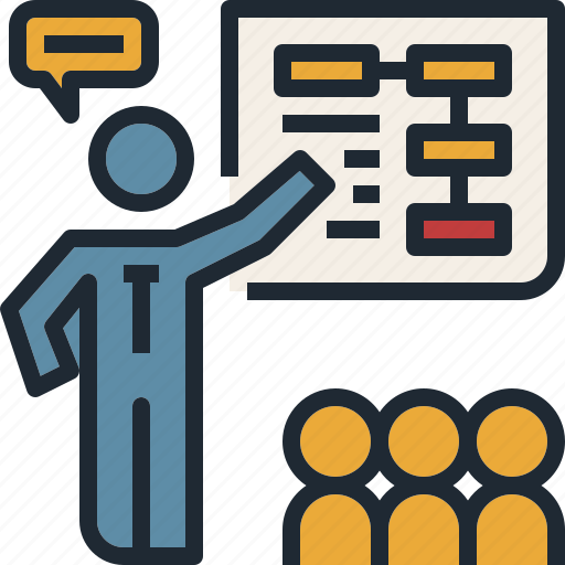 discussion, meeting, presentation, teaching, training icon
