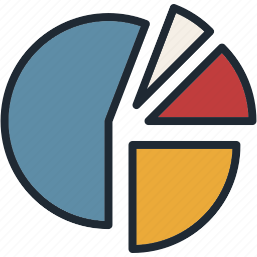 categories, chart, pie, sell, share icon