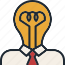 big, business, creative, diea, head, startup, think icon