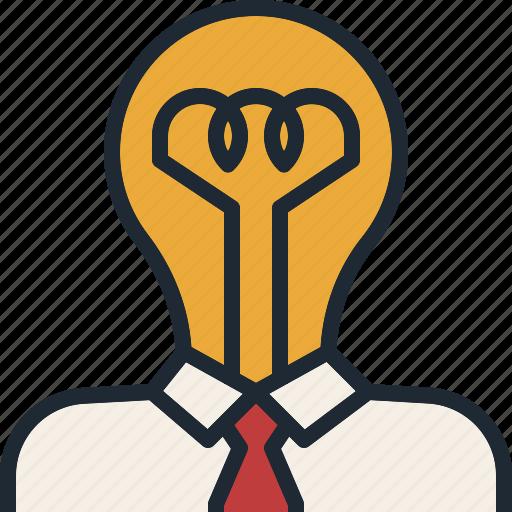 big, business, creative, diea, head, startup, think icon