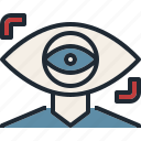 eye, focus, future, monitor, vistion icon