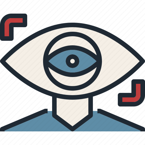 eye, focus, future, monitor, vistion icon