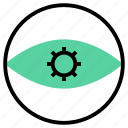 eye, see, startup, view, vision, watch, zoom icon