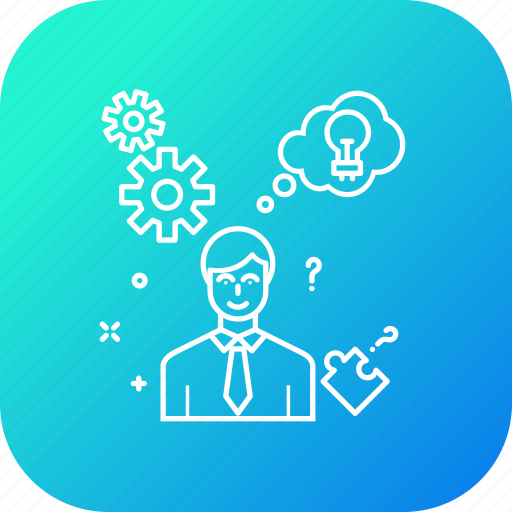 business, businessman, creativity, idea, innovation, plan, strategy icon