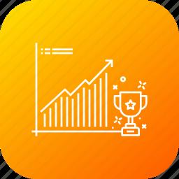 achievement, business, financial, goals, growth, trophy icon