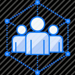 business, cooperation, group, leadership, team, teamwork icon