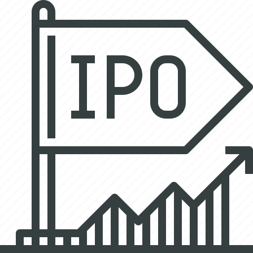 initial, invest, ipo, market, offer, public, stock icon