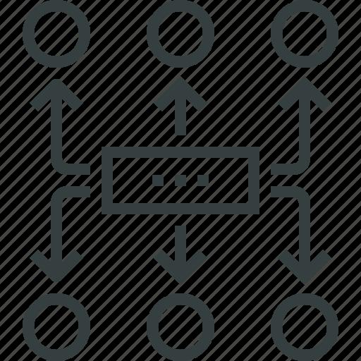 algorithm, chart, plan, planning, scheme, work, workflow icon
