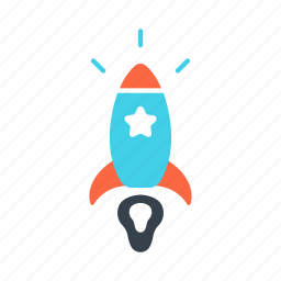 business, creative, innovation, launch, rocket, startup icon