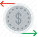 business, cash, company, flow, startup icon