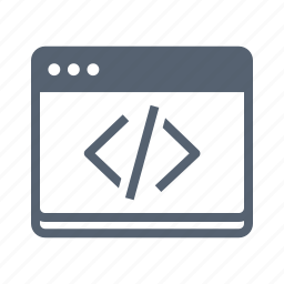 code, programming, terminal icon