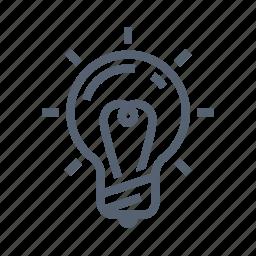 idea, lamp icon