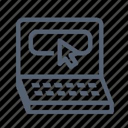 ecommerce, laptop, macbook, website icon